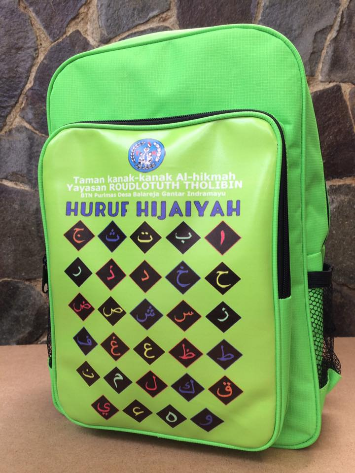 tas TK, Tas sekolah Islami, Konveksi tas sekolah, konveksi tas, tas anak Islami